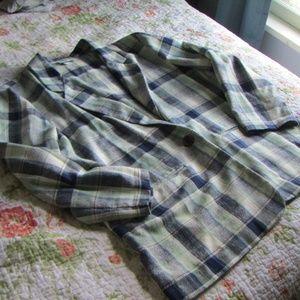 Vintage Oversize Plaid Blazer, XL